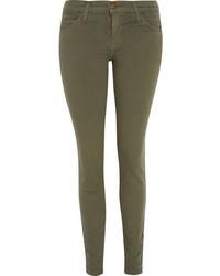Jean skinny olive