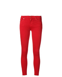 Jean skinny rouge 7 For All Mankind