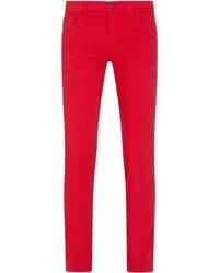 Jean skinny rouge Dolce & Gabbana