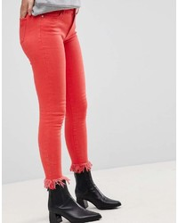 Jean skinny rouge Only