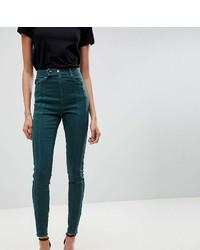 Jean skinny vert foncé