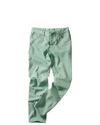 Jean skinny vert menthe