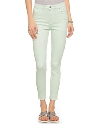 Jean skinny vert menthe 7 For All Mankind