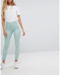 Jean skinny vert menthe Vero Moda