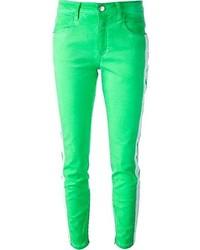 Jean skinny vert
