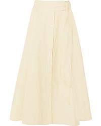 Jupe à patchwork beige Lisa Marie Fernandez