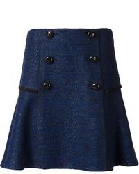 Jupe boutonnée bleue marine Proenza Schouler