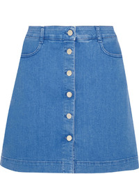 Jupe boutonnée en denim bleue Stella McCartney