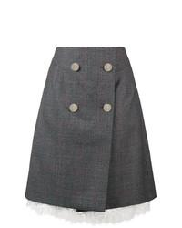 Jupe boutonnée gris foncé Calvin Klein 205W39nyc