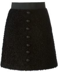 Jupe boutonnée noire Dolce & Gabbana