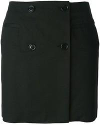 Jupe boutonnée noire Love Moschino
