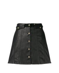 Jupe boutonnée noire Versace Jeans