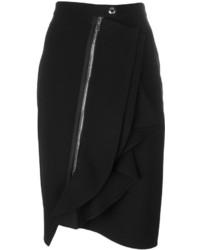 Jupe crayon à volants noire Givenchy