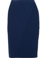 Jupe crayon bleu marine Fendi