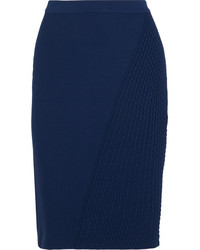 Jupe crayon bleue marine Fendi