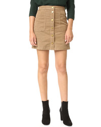 Jupe crayon brune claire Tory Burch