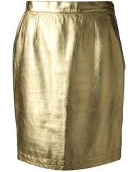 Jupe crayon dorée Yves Saint Laurent