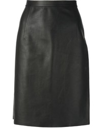Jupe crayon en cuir noire Alexander Wang