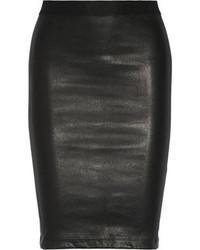 Jupe crayon en cuir noire Helmut Lang