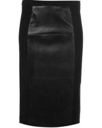 Jupe crayon en cuir noire MICHAEL Michael Kors