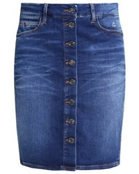 Jupe crayon en denim bleue marine Comma