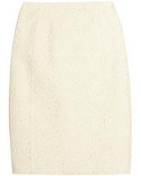 Jupe crayon en dentelle blanche Nina Ricci