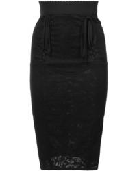Jupe crayon en dentelle noire Dolce & Gabbana