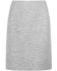 Jupe crayon en laine grise