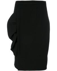 Jupe crayon en laine noire Moschino