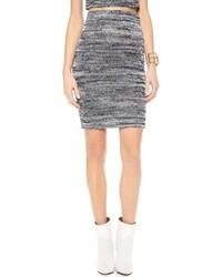 comment porter une jupe crayon en tricot grise en 2016 3 tenues mode femmes. Black Bedroom Furniture Sets. Home Design Ideas