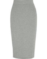 Jupe crayon en tricot grise James Perse