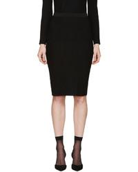 Jupe crayon en tricot noire Nina Ricci
