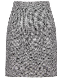 Jupe crayon en tweed grise Dolce & Gabbana