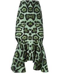 Jupe crayon imprimée verte Givenchy