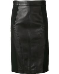 Jupe crayon noire Versace