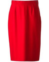 Jupe crayon rouge Balenciaga