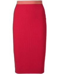 Jupe crayon rouge Fendi