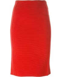 Jupe crayon rouge Giorgio Armani