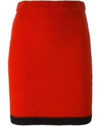 Jupe crayon rouge Moschino