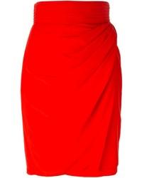 Jupe crayon rouge Versace