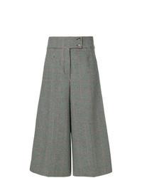 Jupe-culotte à carreaux grise