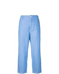 Jupe-culotte à rayures verticales bleue Golden Goose Deluxe Brand