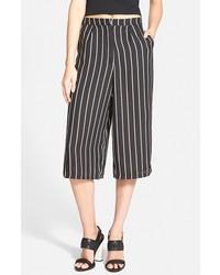 Jupe-culotte à rayures verticales noire