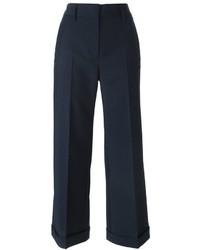 Jupe-culotte bleu marine Jil Sander