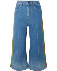 Jupe-culotte bleue Gucci