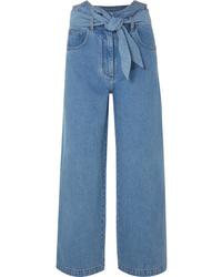Jupe-culotte bleue Nanushka