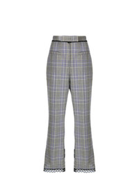 Jupe-culotte écossaise grise MSGM