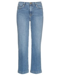 Jupe-culotte en denim bleu clair