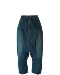 Jupe-culotte en denim bleu marine Junya Watanabe