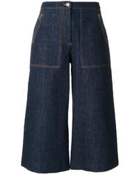 Jupe-culotte en denim bleu marine Kenzo